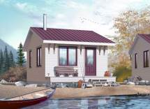 Small House Plans - Vacation Home Design Dd-1901