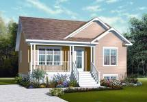 Country Home Plan - 2 Bedrms 1 Baths 911 Sq Ft #126-1121