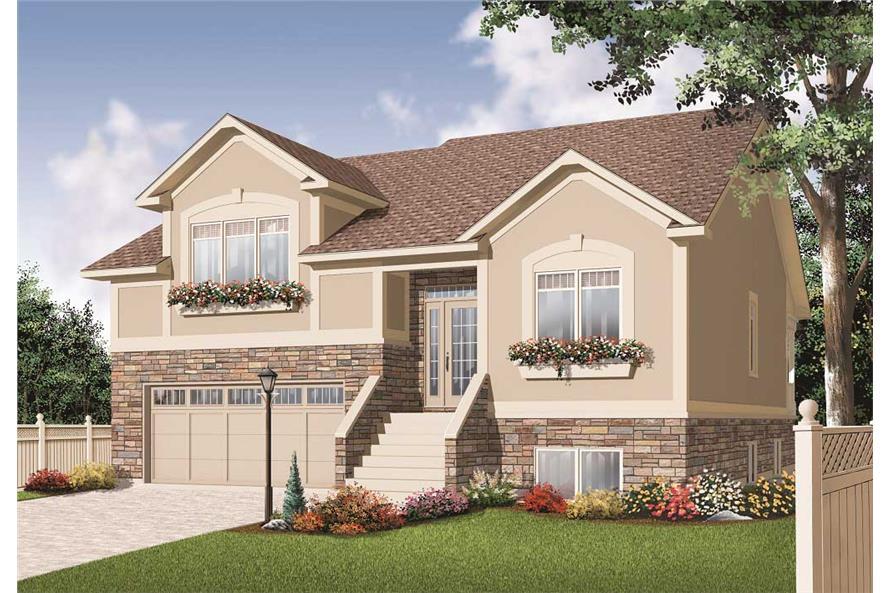 Split Level House Plans Home Design 3468