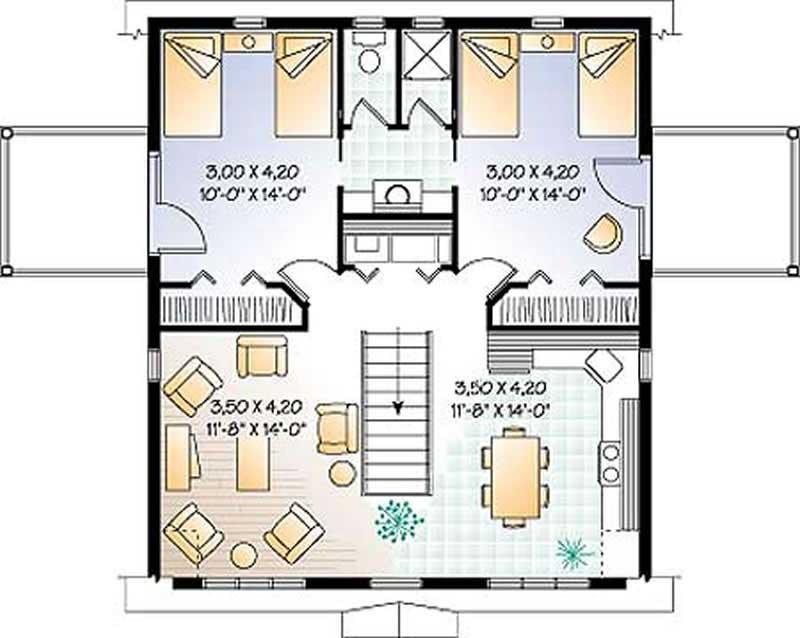 2 Bedroom Addition Floor Plans