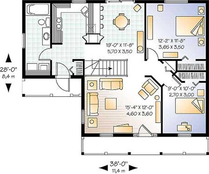 Small Country Ranch Farmhouse House Plans Home Design DD 4478