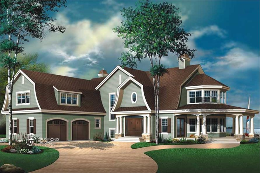Luxury Contemporary Country Farmhouse House Plans  Home Design DD3844  8195