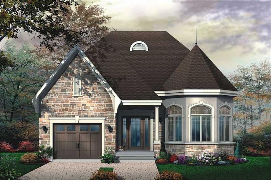 Victorian Bungalow European House Plans  Home Design DD3424  11415