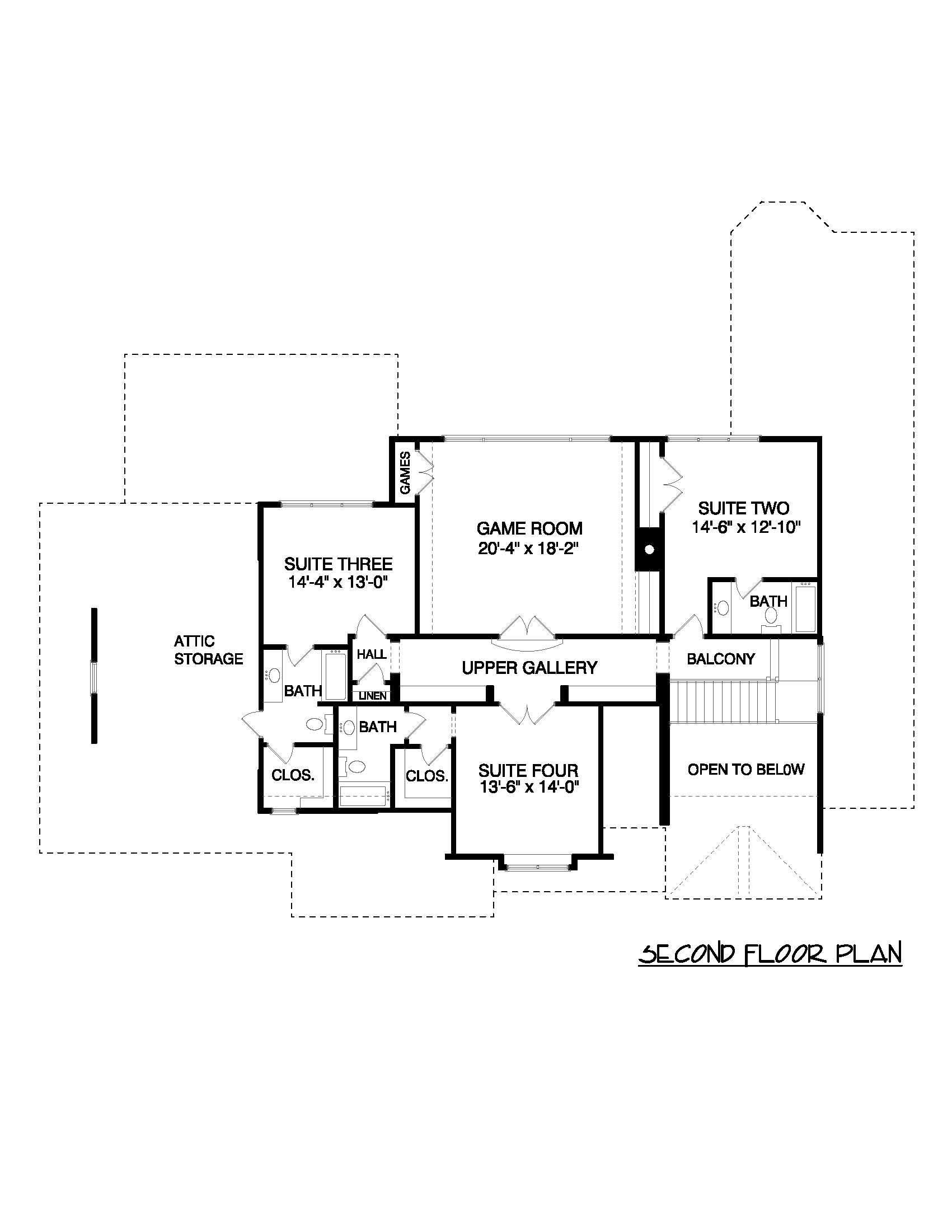 European House Plans: Home Designs EDG-4300