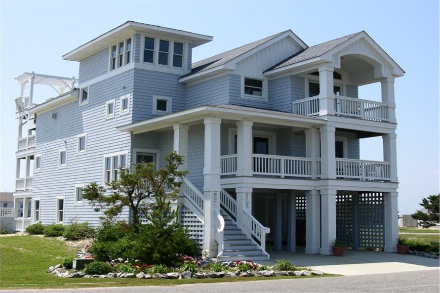 Beachfront Home Plan  6 Bedrms 55 Baths  3068 Sq Ft  1301093