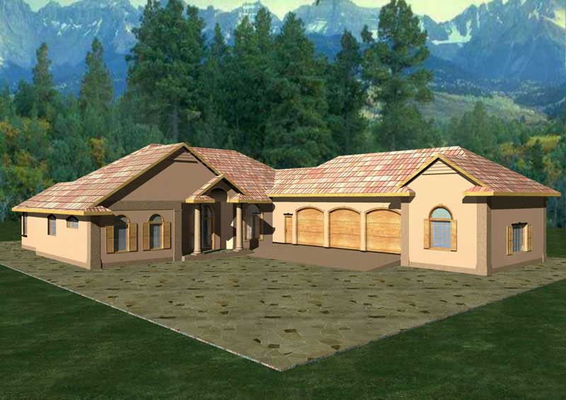 Concrete BlockICF  Vacation Home with 3 Bdrms 3202 Sq
