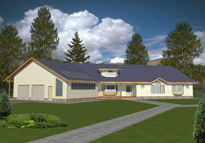 Ranch Concrete Block ICF Design House Plans  Home Design GHD2013  9396