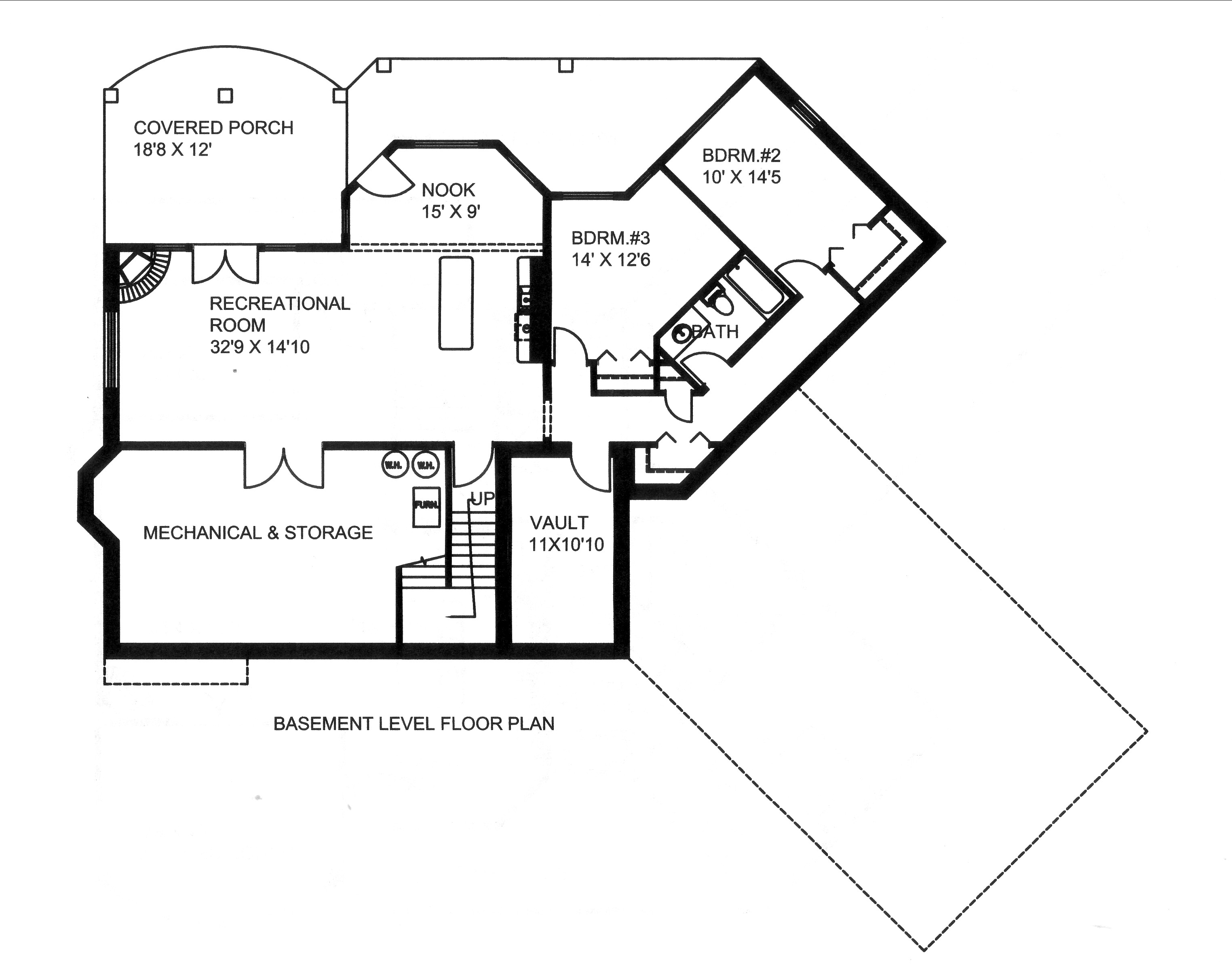 Traditional House Plan 132 3 Bedrm Sq Ft Home