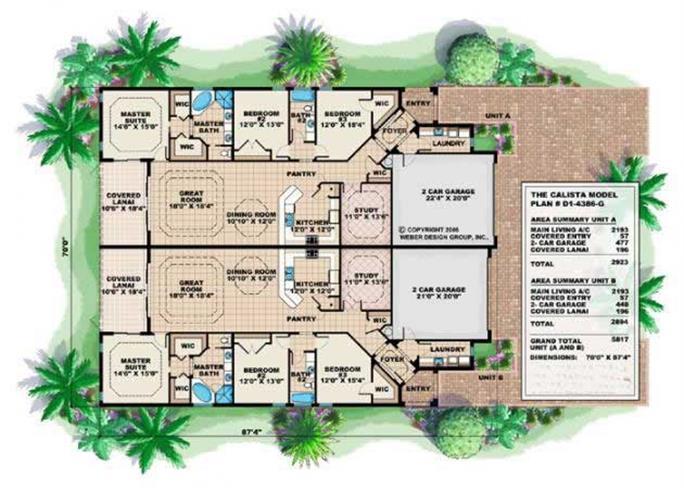 Mediterranean House Plans Home Design Calista # 17748 Part 76