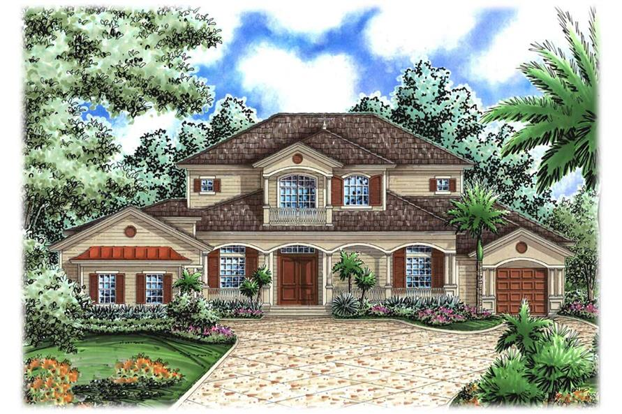 Mediterranean House Plans  Florida Home Design WDGG24280