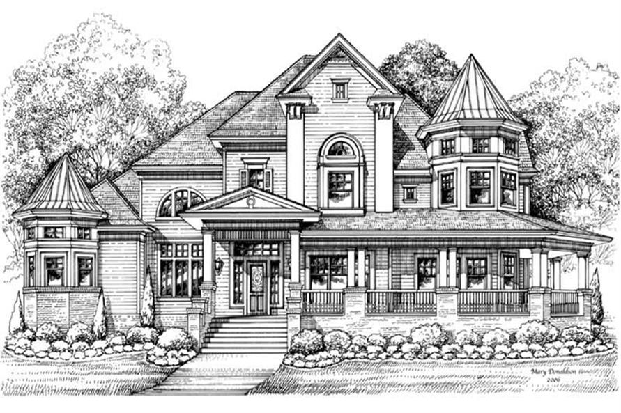 Victorian House Plans  Home Design GMLD756  19255