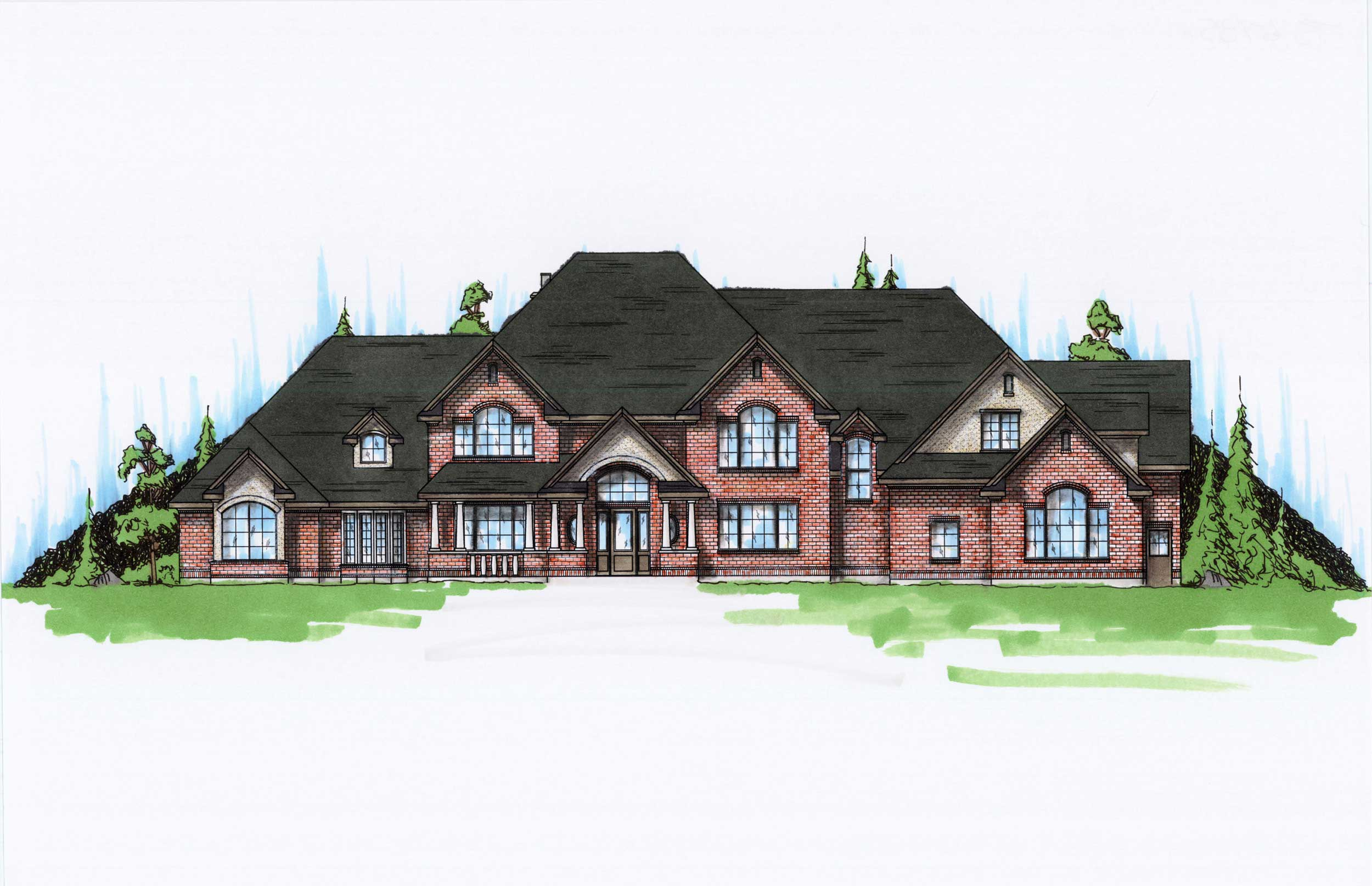 Farmhouse Home Plan 7 Bedrms 45 Baths 6785 Sq Ft
