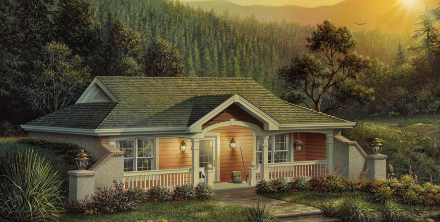 Vacation Homes House Plan 1381187 1 Bedrm 809 Sq Ft