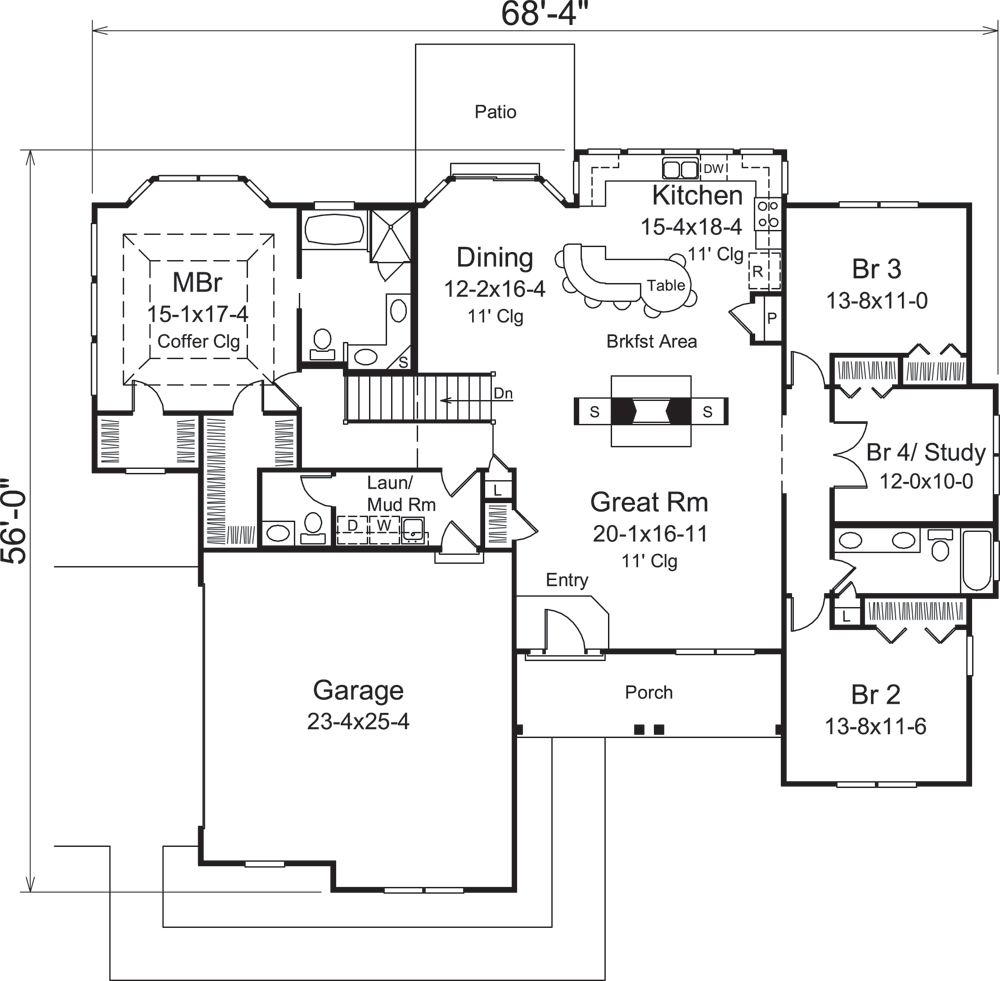 Country House Plan 1381290 4 Bedrm 2241 Sq Ft Home