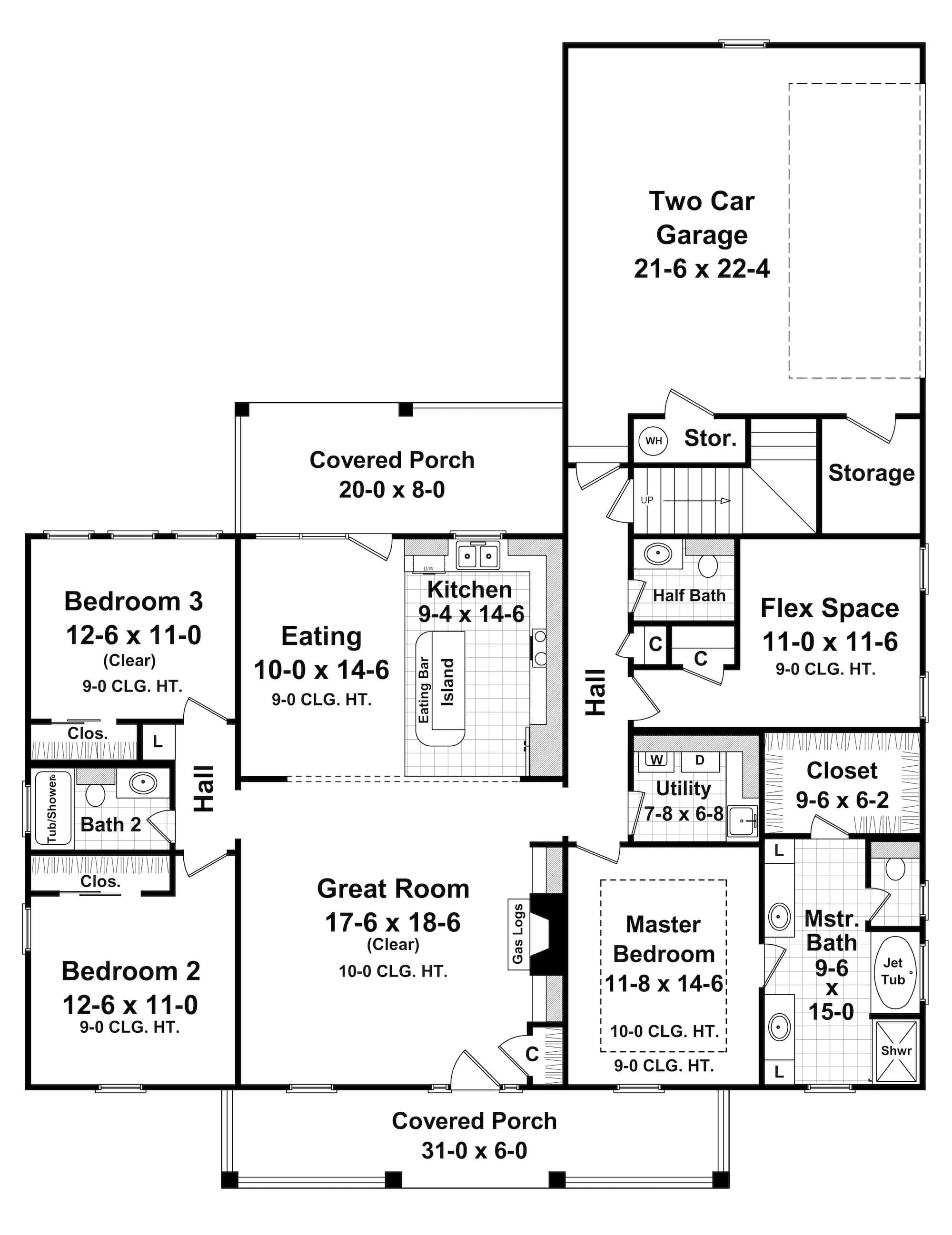 Country House Plan 1411061 3 Bedrm 1800 Sq Ft Home Plan