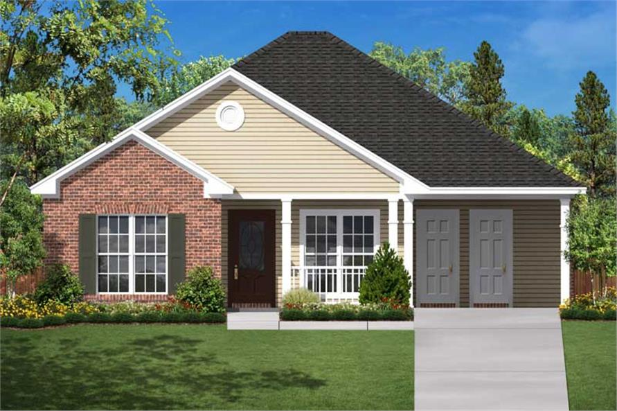 Small Traditional Home Floor Plan  Three Bedrooms  Plan