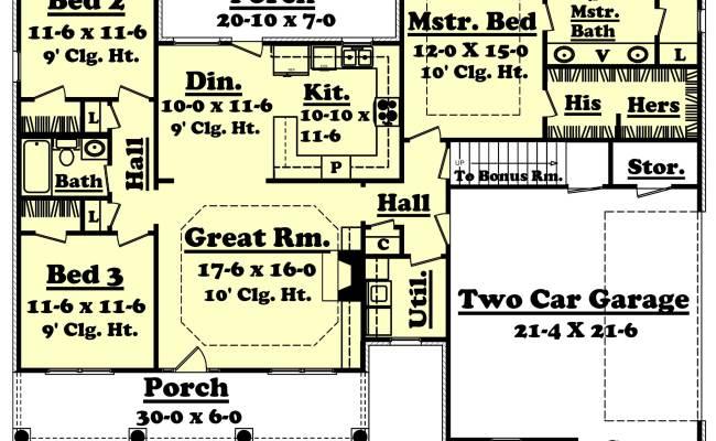 Country Ranch Plan 3 Bedrms 2 Baths 1500 Sq Ft 142