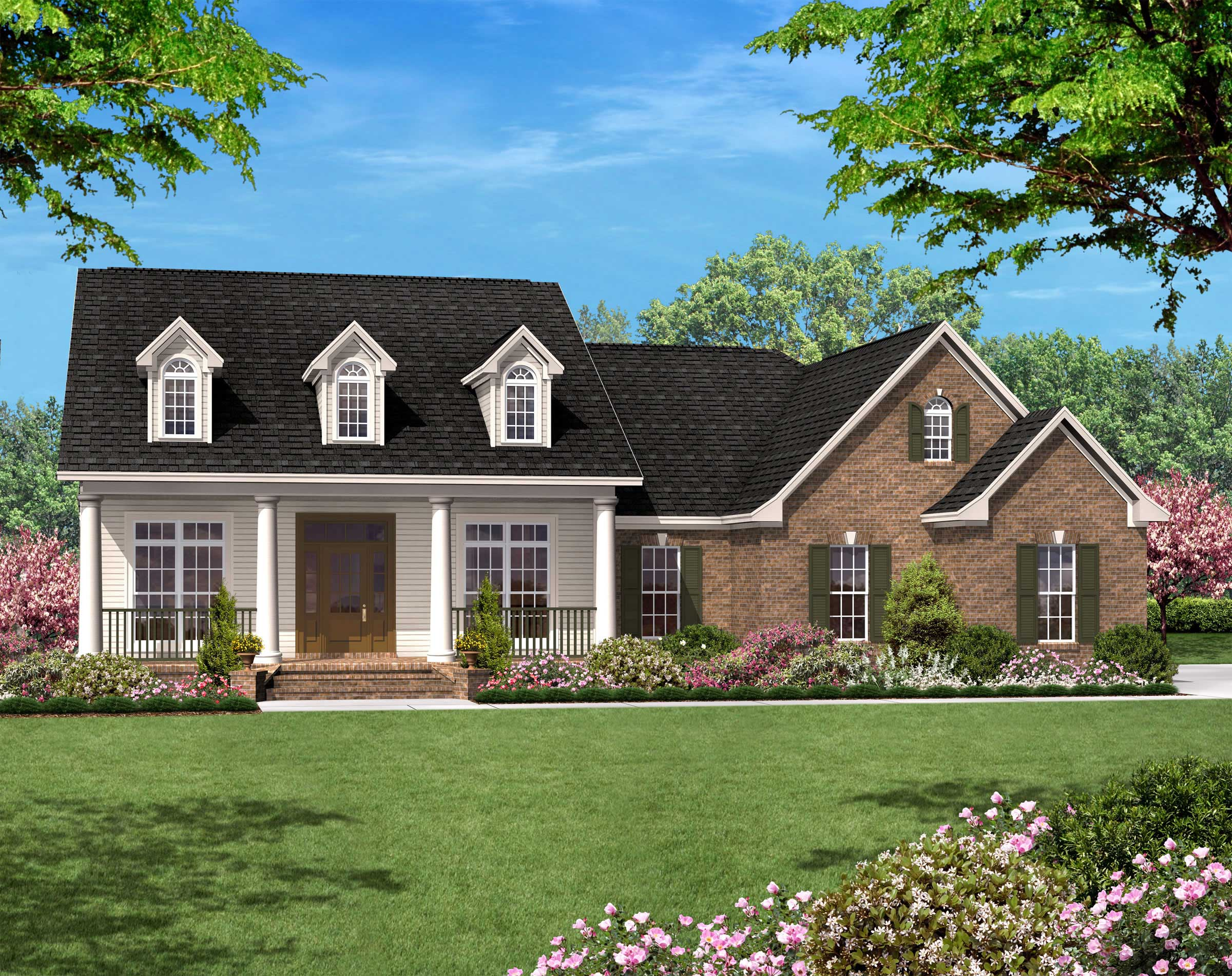 Country Ranch Plan  3 Bedrms 2 Baths  1500 Sq Ft  1421013
