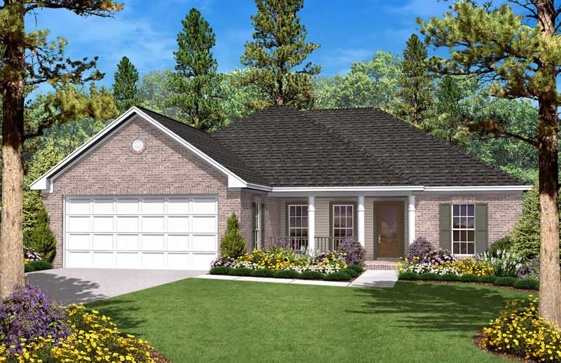 Country Home Plan  3 Bedrms 2 Baths  1400 Sq Ft  1421028