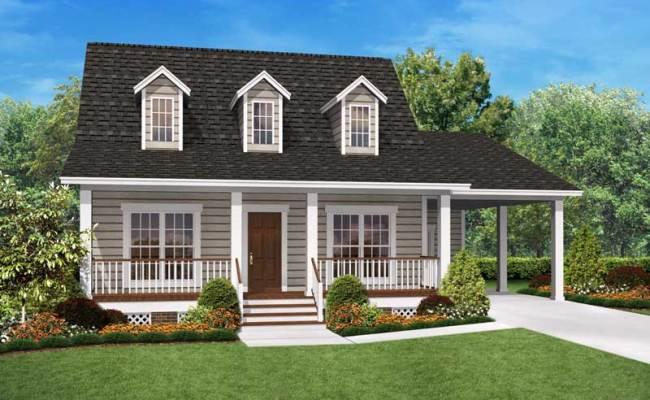 2 Bedrm 900 Sq Ft Tiny Cape Cod House Plan 142 1036
