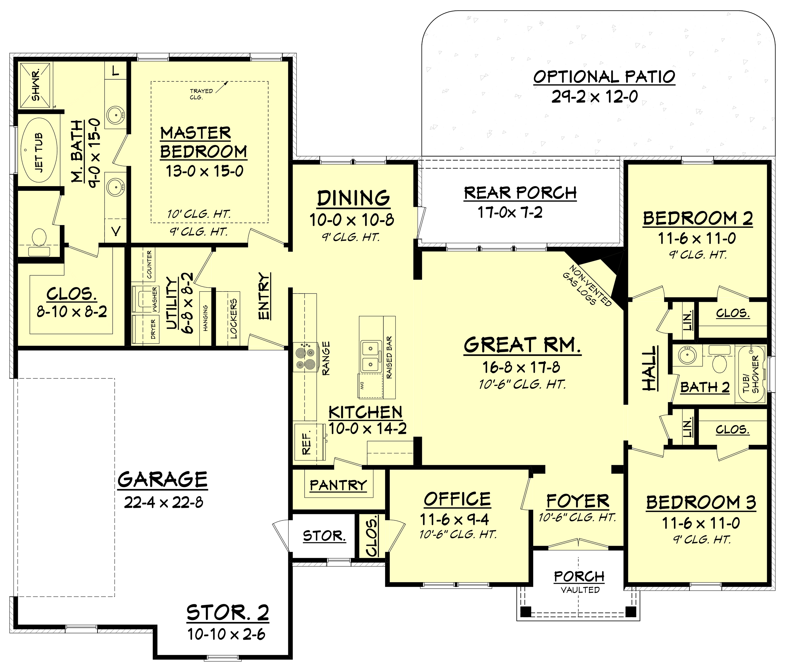 House Plan 1421075 3 Bdrm 1769 Sq Ft Traditional Home  ThePlanCollection