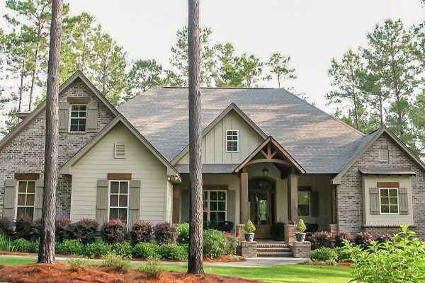 3 Bedrm 2597 Sq Ft Craftsman House Plan With #142-1168