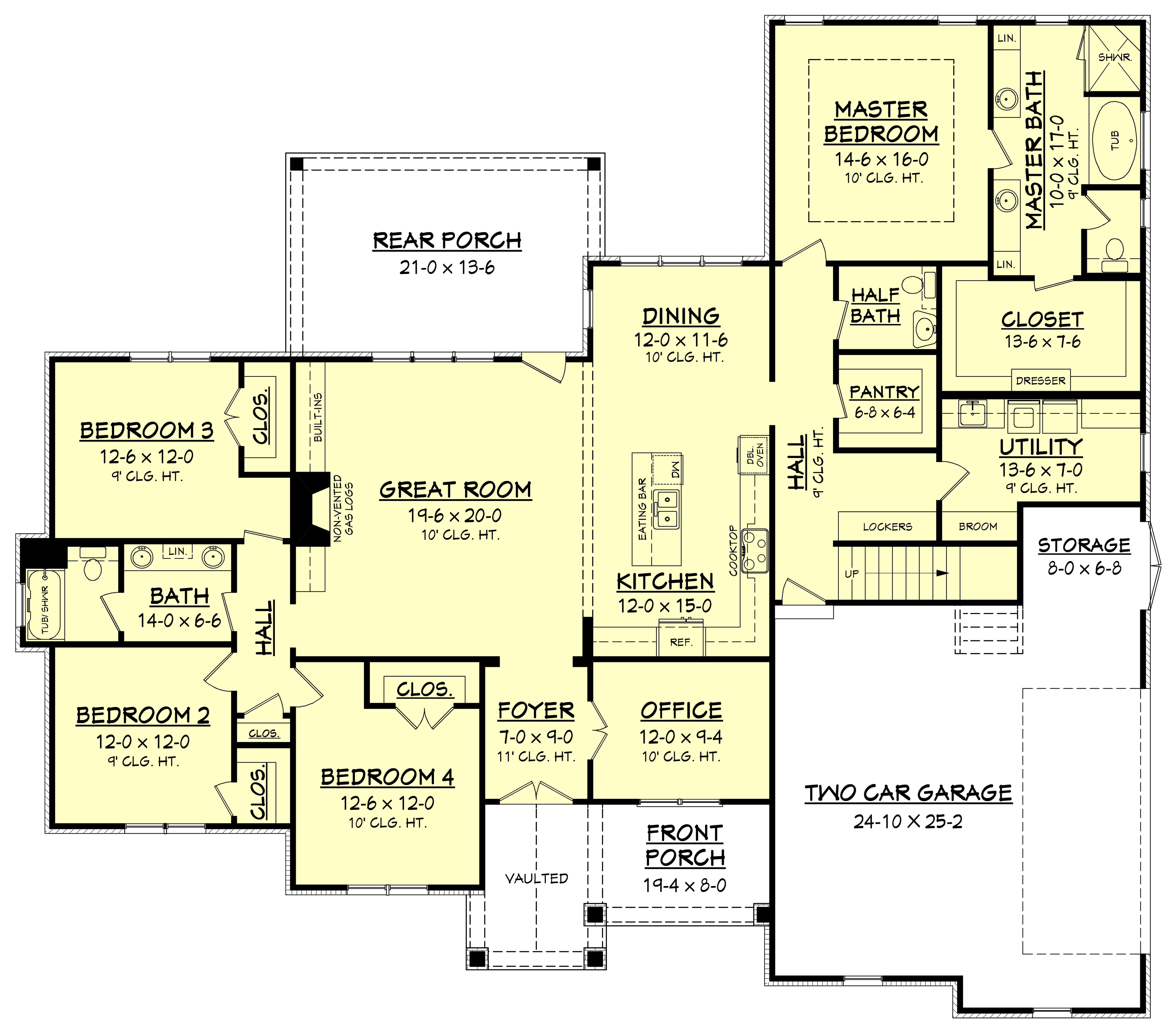 4 Bedrm 2641 Sq Ft Country House Plan 1421170