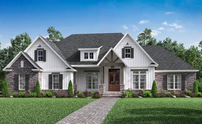 Country House Plan 4 Bedrms 2 5 Baths 2589 Sq Ft