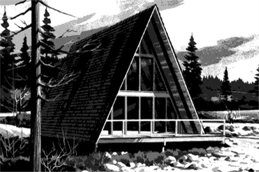 AFrame House Plans  Home Design LSH7263