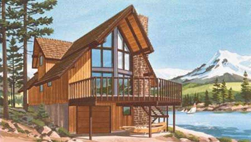 A Frame Home Plans Home Design LS H 886 3