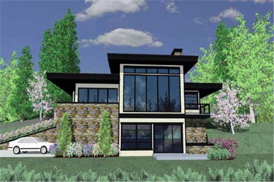 Modern House Plans  Home Design M1887M