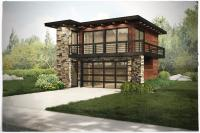 Contemporary,Garage w/Apartments,Modern House Plans - Home ...