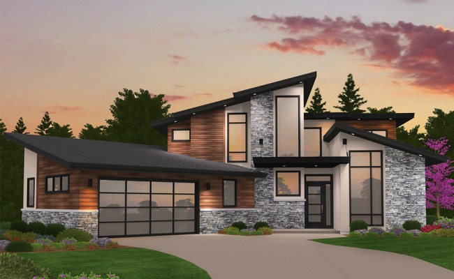 Modern House Plan 4 Bedrms 3 Baths 2673 Sq Ft 149 1869
