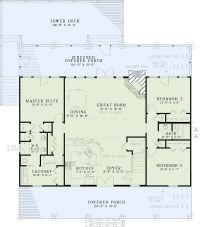 Texas Style Country House Plans - Home Design #153-1313 ...