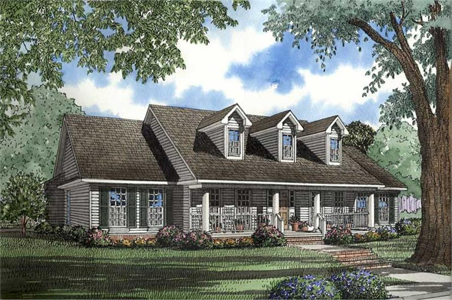 Southern Traditional House Plans  Home Design NDG368  4246