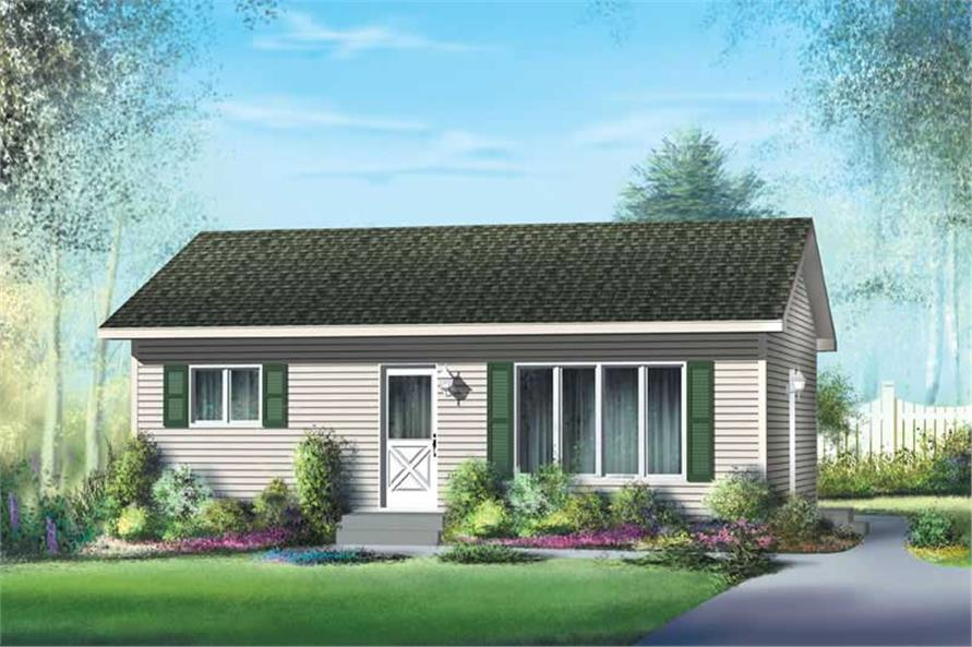 Small, Traditional, Ranch House Plans