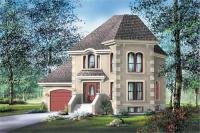 Small, French, European House Plans - Home Design PI-20089 ...