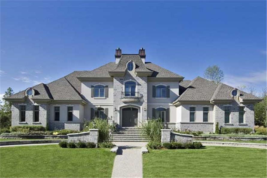European Luxury House Plans  Home Design 644