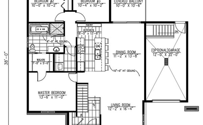 Contemporary House Plan 158 1263 3 Bedrm 1268 Sq Ft