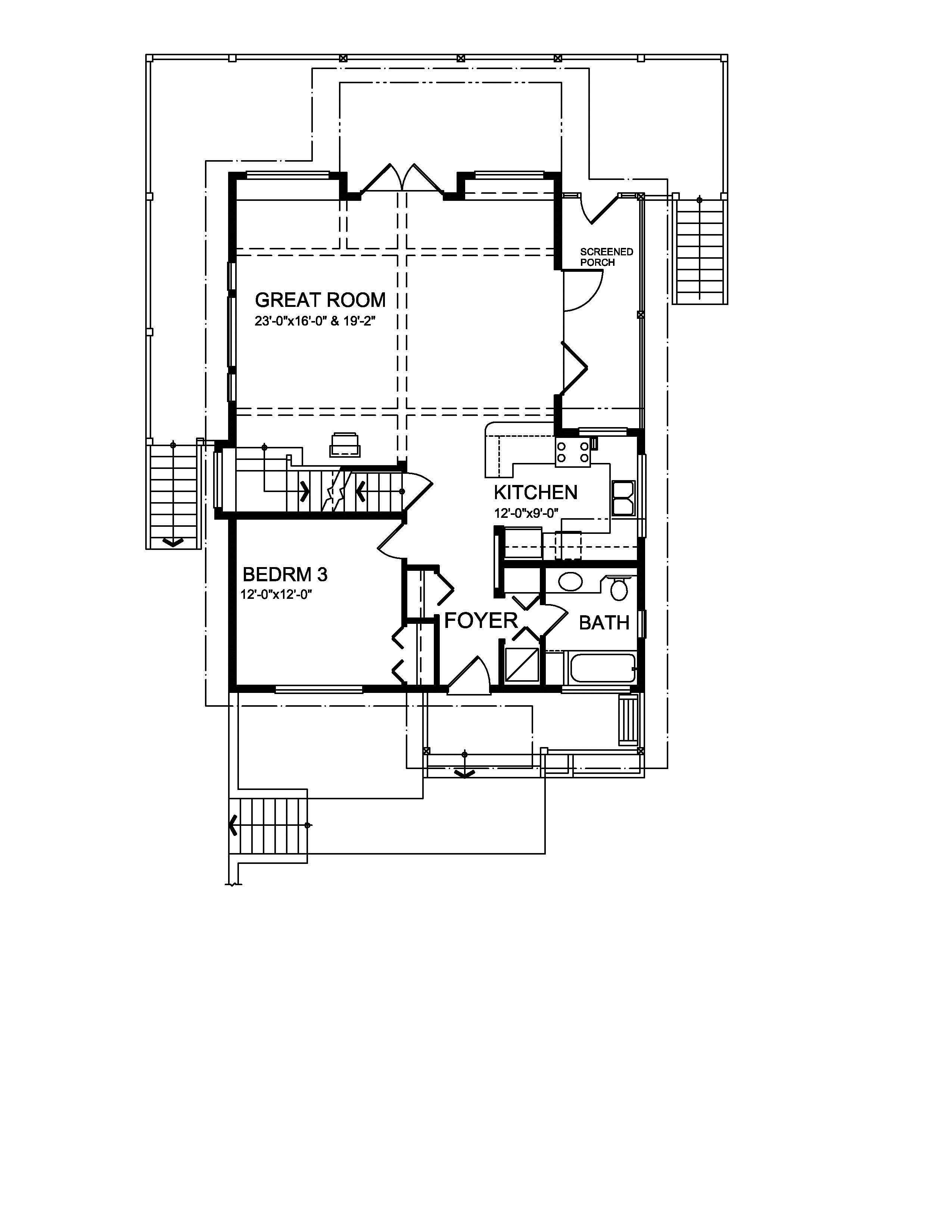 3 Bedrm Sq Ft Craftsman House Plan 160