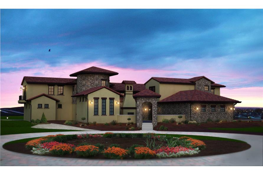 Tuscan House Plans  Home Design 1220