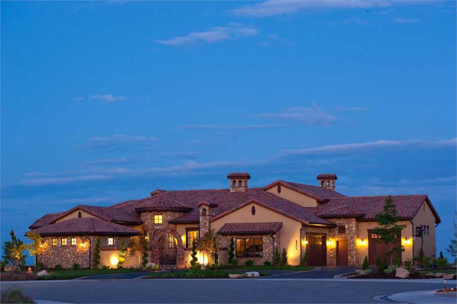 Luxury Tuscan Home Plans  Home Design 1611041