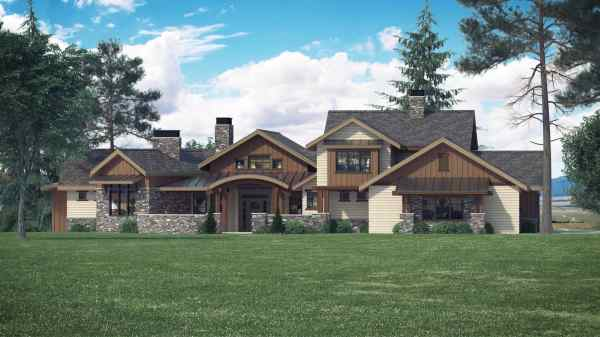 4 Bedrm 3998 Sq Ft Luxury House Plan #161-1066