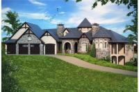 2 Bedrm, 4774 Sq Ft Tudor House Plan #161-1082