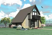 Frame House Plan - 0 Bedrms 1 Baths 734 Sq Ft #170-1100