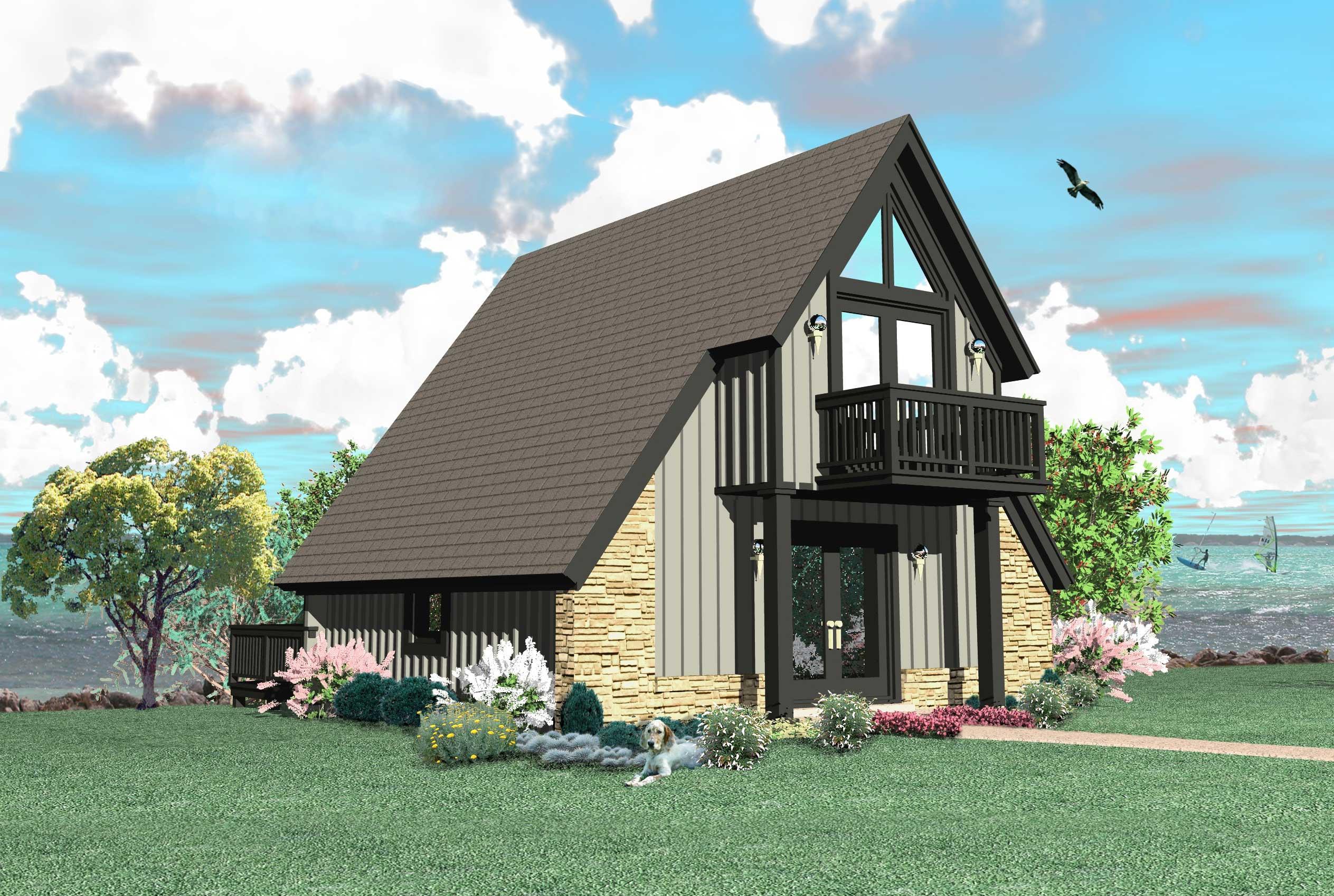A Frame House Plans  Home Design SUB050050048T_RV NWD