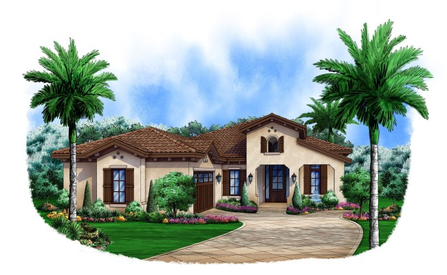 Spanish House Plan 175 1103 3 Bedrm 2583 Sq Ft Home