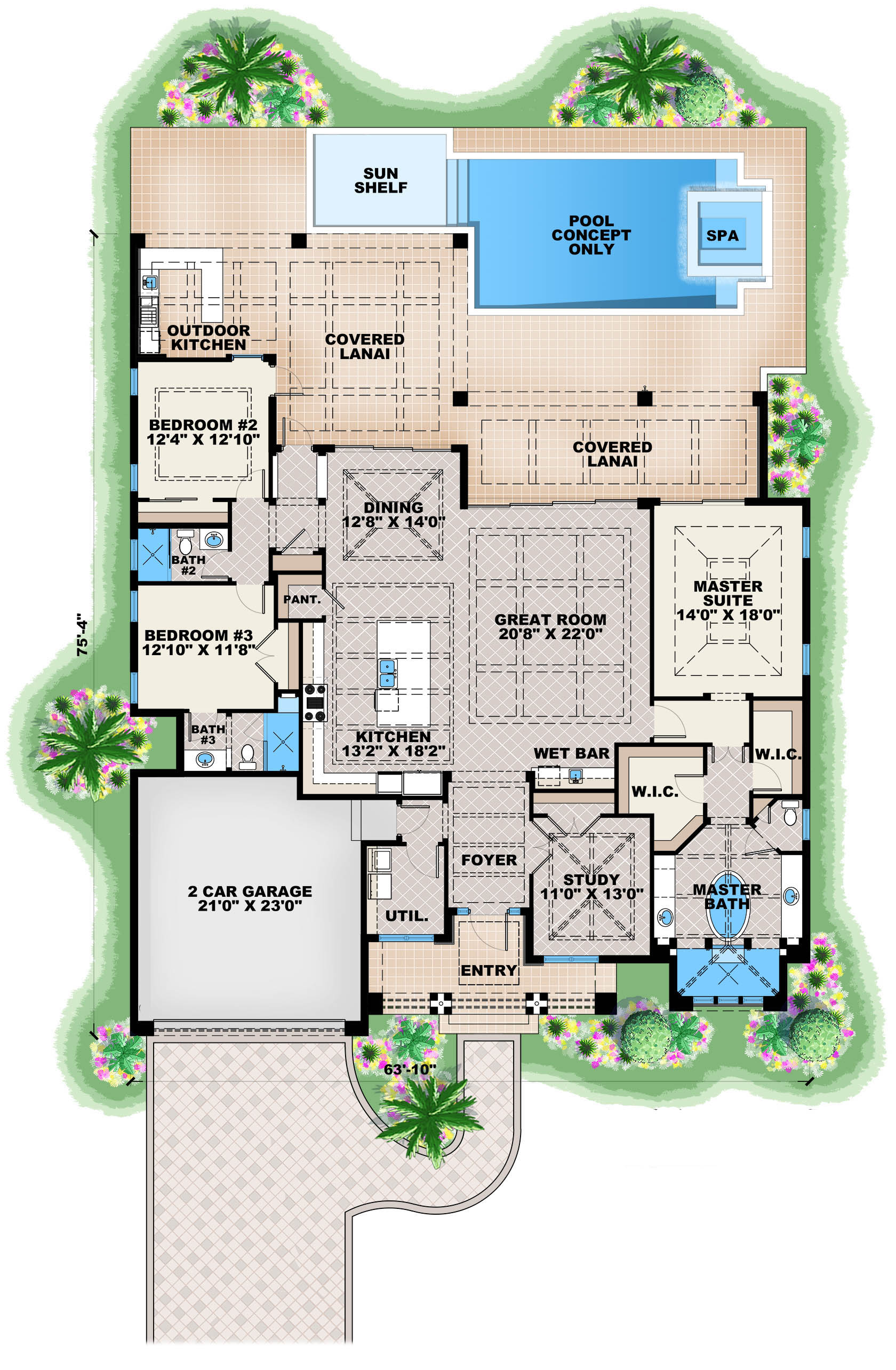 Contemporary House Plan 1751134 3 Bedrm 2684 Sq Ft Home Plan