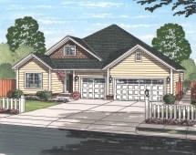 Texas Style Ranch House Plan #178-1223 5 Bedrm 1996 Sq