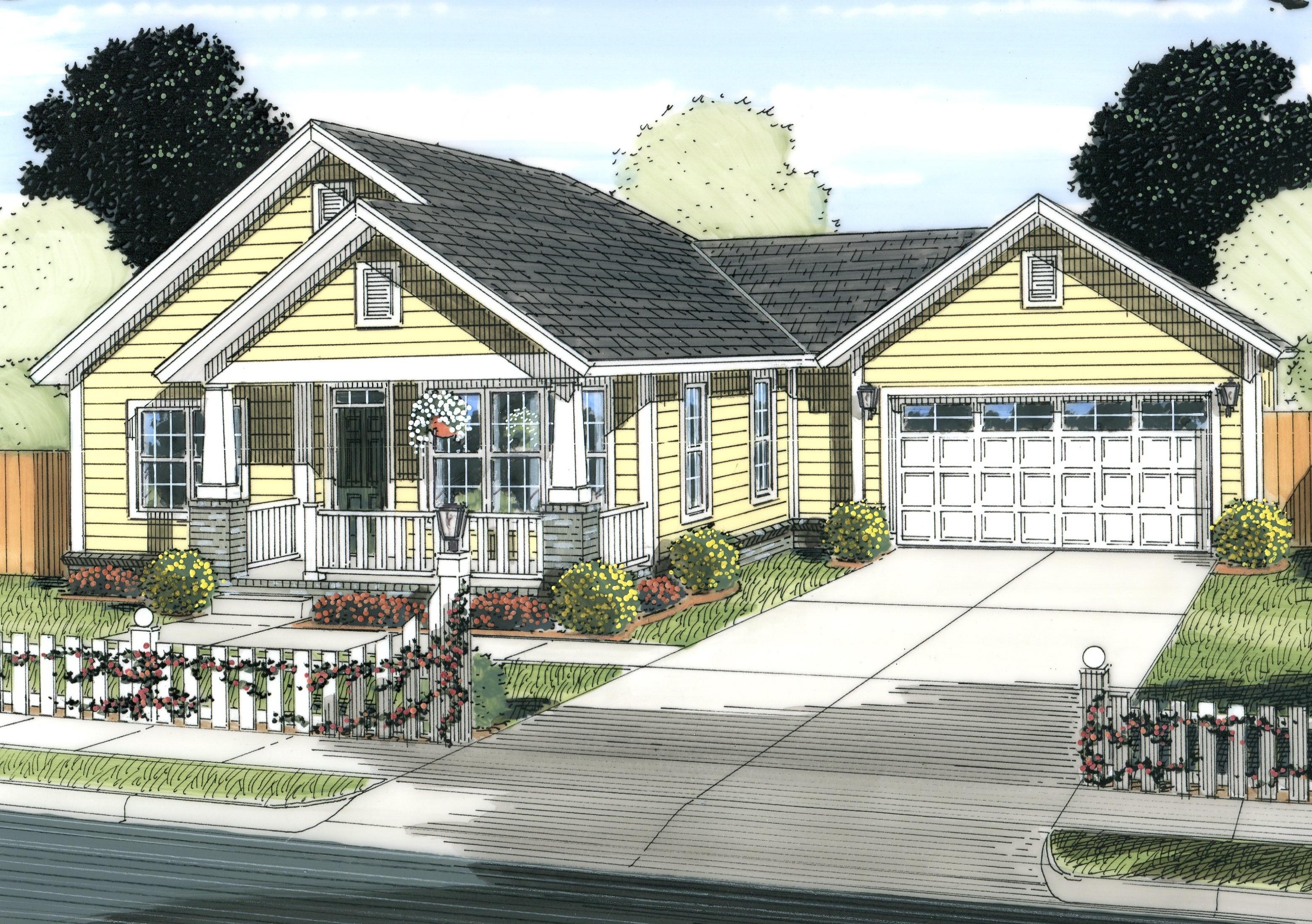 Cottage House Plan  2 Bedrms 2 Baths  1147 Sq Ft  178